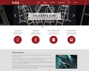 web corporatiu - Escaleras Sube